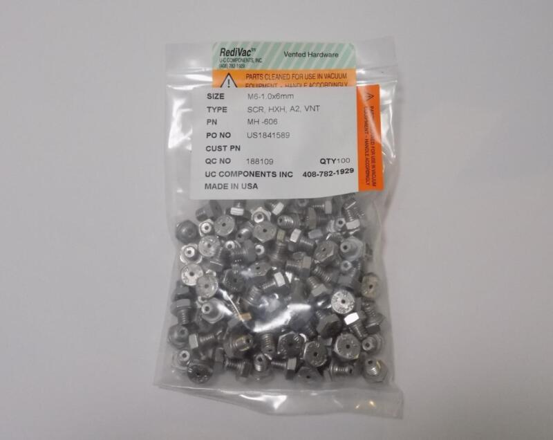 UC Components MH-606 Clean Room Bolts M6-1.0x6mm 100-Pack