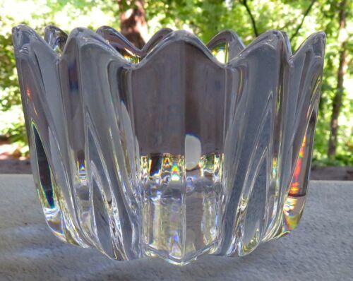 Orrefors Crystal Fleur Small 3 1/4 Inch Bowl Petal Points - Mint
