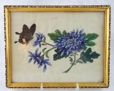 19th c. Chinese Qing Exquisite Vivid Pith Painting Floral; Christie's Auction