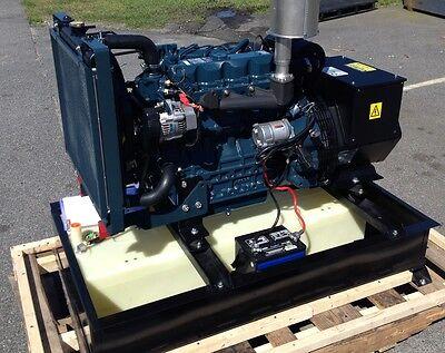 20 Kw Diesel Generator Kubota 25 Gallon Base Tank Included Stationary Use