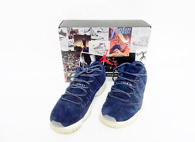Nike Air Jordan 11 Retro Low Jeter Re2pect Blue White AV2187-441 Sz10.5 P6N5653*