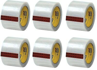 Scotch 355 Hot Melt Packing Tape 3w X 55 Yards Clear Pack Of 6 T9053556pk