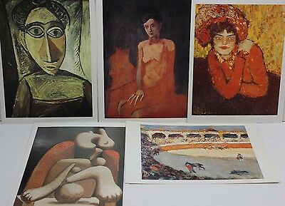 Lot 5 New Vintage 1998 Pablo Picasso Postcards Early Paintings Bull Fight P3, used for sale  Star
