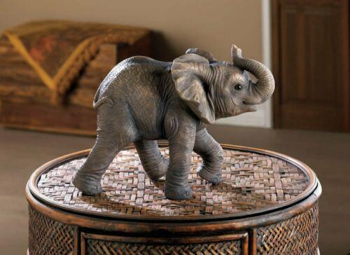 Happy Little Elephant Statue Figurine New