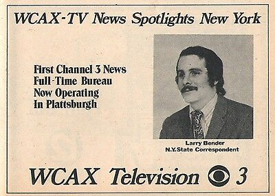 1973 Wcax Tv Ad   Larry Bender New York State Correspondent In Plattsburgh Ny