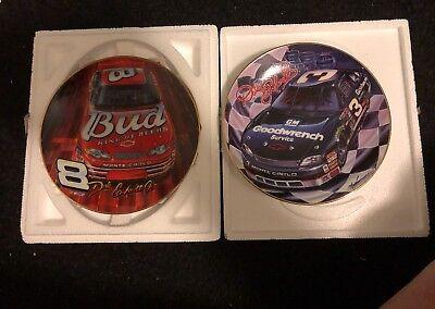 (Dale Earnhardt Sr. & Jr. Hamilton Plates Ready to Race & Tearin' Up the Track)