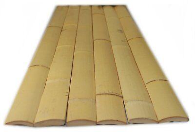 Bamboo Tiki Hut (25 - 6 ft Natural Bamboo Slats 4 Wall Fence Tiki Bar Zen Tiki Hut )