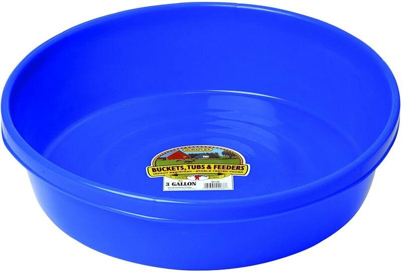 Little Giant Plastic Utility Pan (Blue) Durable & Versatile Short Livestock