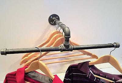 20 Urban Industrial Pipe Wall Rack - Clothing Rack Closet Organizer Retail