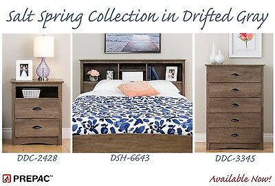 Prepac Salt Spring Bedroom Collection - Nightstand, Chest, H