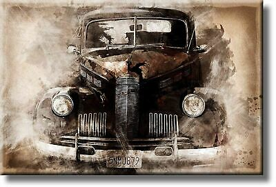 Vintage Oldtimer Classic Car Picture on Acrylic , Wall Art Décor, Ready to Hang