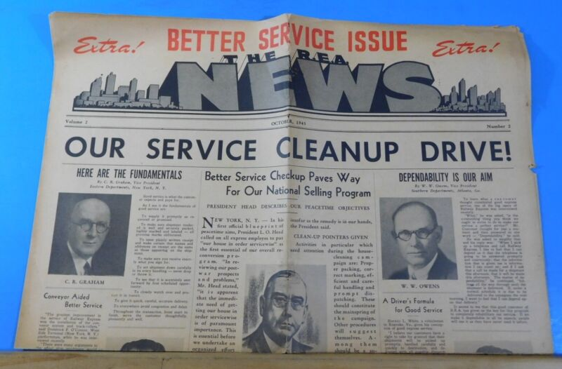 R.E.A. News Extra! Better Service Issue 1945 October Newspaper