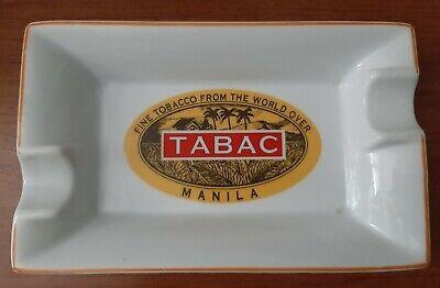 "Vintage Tabac Manilla Fine Tobacco Advertising Cigar Ashtray 8""x5"""