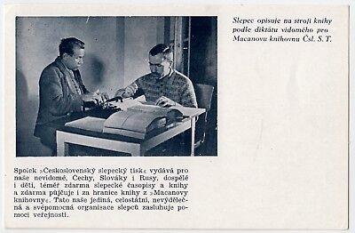 BRAILLE Blindenschrift Schreibmaschine Blinds' Typewriter * Vintage 30s Czech PC
