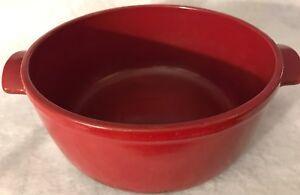 Emile Henry Dutch Oven Flame Red 4.5 Quart No Lid Stew Pot