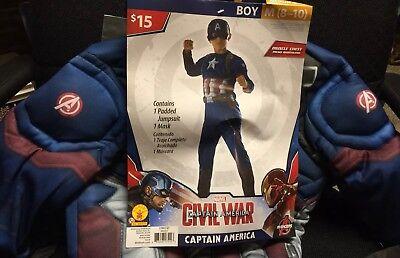 New Captain America Civil War Costume Muscle Chest Sz M 8-10