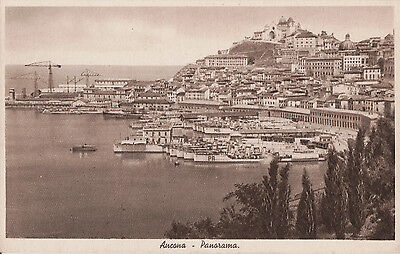 Postcard of Navy Ships in Port of Ancona, Italy