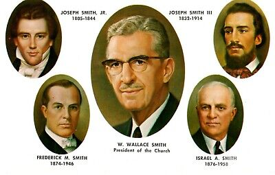 Five Prophets of Reorganized Church of Jesus Christ Latter Day Saints- Postcard