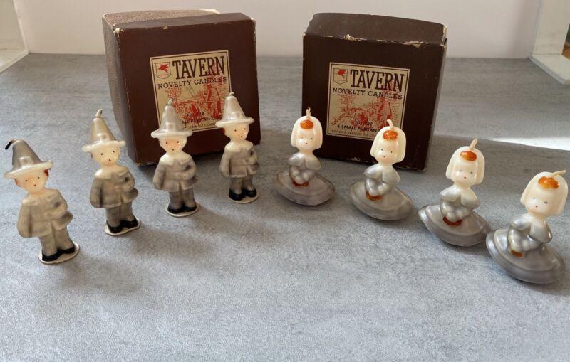 Boxed Set Pilgrim Small Puritan Boys & Girls Tavern Candles No 787 & 788 Socony