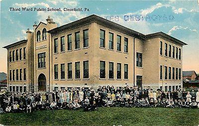 Vintage Postcard Third Ward Public School Clearfield Pa
