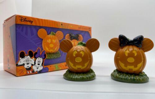 Dept 56 DISNEY VILLAGE PUMPKINTOWN Mickey & Minnie Pumpkintown Topiaries Figures