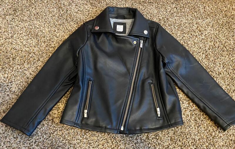 Gap Kids Toddler Girl  Black Leather  Jacket