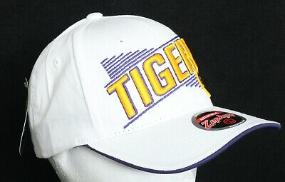 NEW Louisiana State Tigers LSU Zephyr White Snapback Baseball Cap Hat  Louisiana Tigers