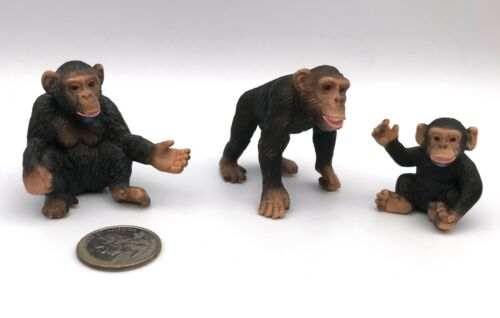 Schleich CHIMPANZEE FAMILY Baby Female Male Retired Figures 14192 14191 14189