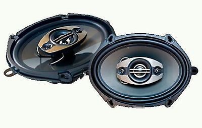 Pulsar PE-574 350W 5x7 or 6x8 4-way Coaxial Car Stereo Speaker System Front Rear
