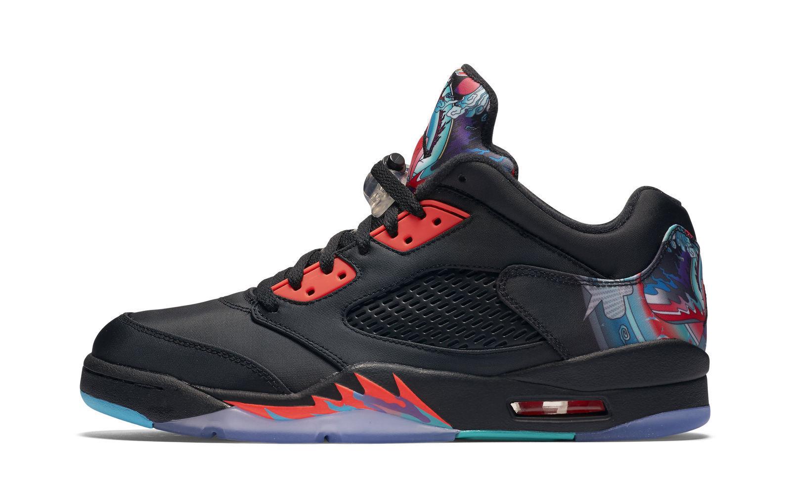 f445bb22756ae2 Nike Air Jordan 5 Retro Low Size 14 Chinese Year Black Crimson ...
