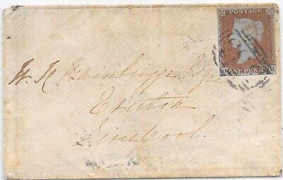 GB COVER 1846 HORIZONTAL OVAL 533(RAGLAN); MORETON-ON-MARSH - LIVERPOOL