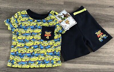 BNWT DISNEY Toy story 4 Alien Short & Tshirt Set - 18-24 Month - Primark