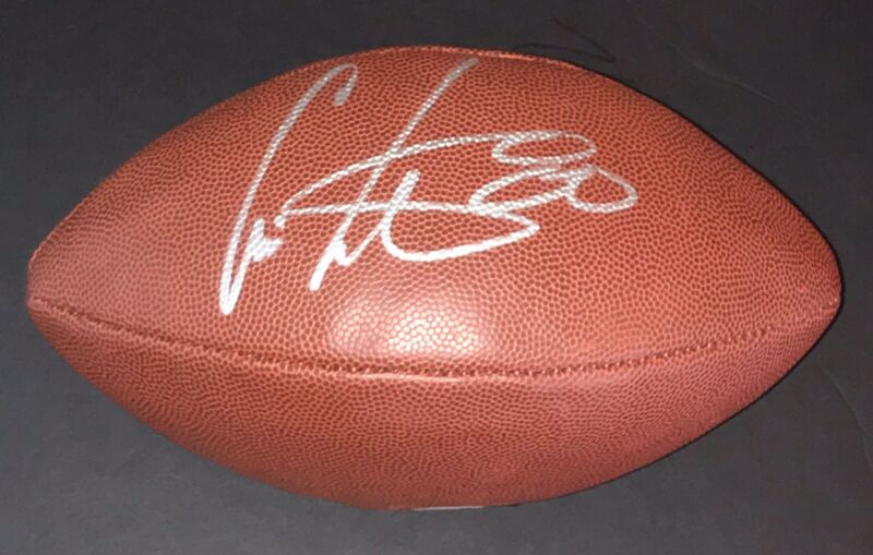 CHRIS CARTER SIGNED AUTOGRAPH VIKINGS HOF LEGEND NFL FOOTBALL BECKETT COA