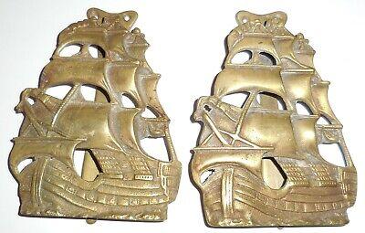 Boat door knockers brass x2 nautical pirate ship galleon beach themed fixtures