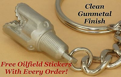 Tricone Oilfield Drillbit Pendant Keychain Oil Drill Rig Bit Well Gift Stickers