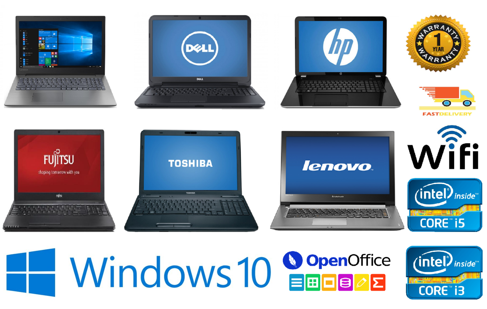 Laptop Windows - FAST CHEAP Wi-Fi WINDOWS 10 LAPTOP CORE i5 i3 4GB/8GB RAM 320GB/500GB HDD