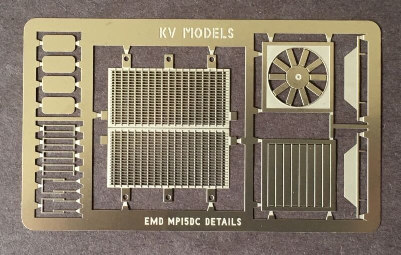 ETCHED DETAIL SET FOR ATLAS MP15DC HO SCALE KV MODELS KV-115H