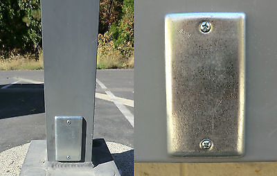 2 Magnetic Utility Electrical Plate Geocache Containers / Geocaching Cache