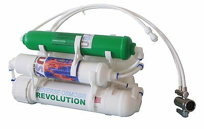 5 stage portable countertop Reverse Osmosis Filter with double DI 0PPM filters Countertop Double Stage Filter