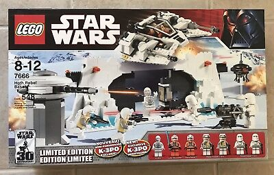 LEGO Star Wars Hoth Rebel Base Limited Edition 7666 ~ New/Sealed Lego Star Wars Hoth Rebel Base