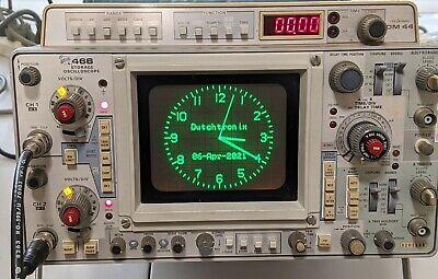 Dutchtronix Scope Clock Kit With Tektronix 466 Dm44 Probes
