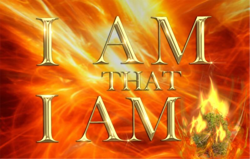 I Am that I AM Fire Silk Worship Flag