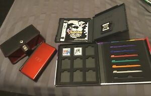 Nintendo ds light crimson red with Pokémon Black & Sonic Rush