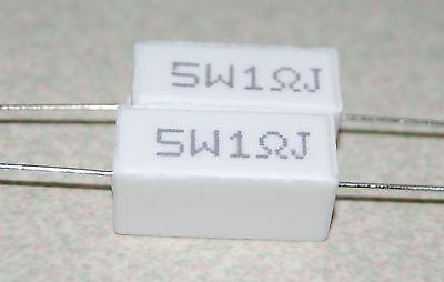2pcs 5 Watts 1 Ohm Ceramic Cement Power Resistors -5