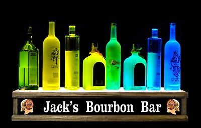 Remote Control24liquor Bottle Display Color Led Personalized Bourbon Bar Sign