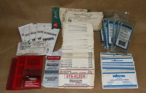 """HUGE Lot NOS!  81 PCS. Welding Mask Safety Cover Plate LENS, plate 2"""" x 4-1/4"""""""
