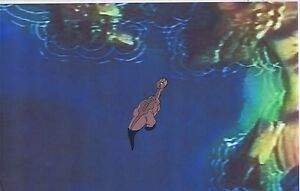 Land Before Time DON BLUTH Original Production Animation Cel & Copy Bkgd #A6686