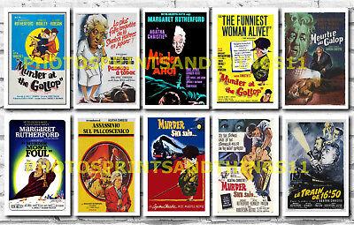 MISS MARPLE (MARGARET RUTHERFORD SERIES)  - FILM POSTER POSTCARD SET # 1