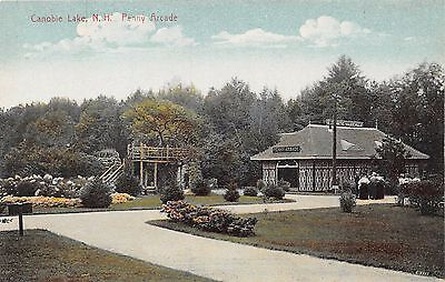 Postcard NH Salem Canobie Lake Penny Arcade Vintage New Hampshire PC
