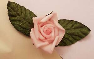 Handmade brooch - rose & leaves Prospect Prospect Area Preview